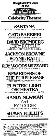 Concert Program Celebrity Theatre Phoenix Az 6 Amp 7